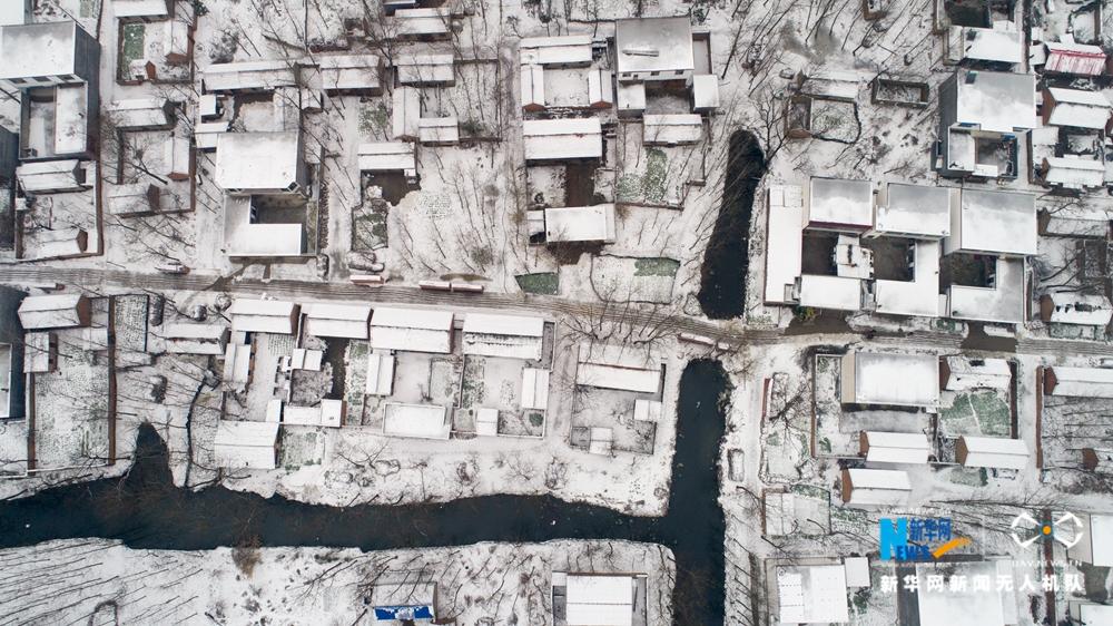 【航拍】雪后乡村分外静