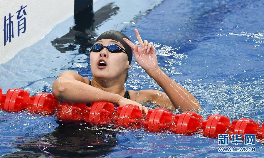 全国冠军赛:傅园慧晋级女子50米仰泳决赛