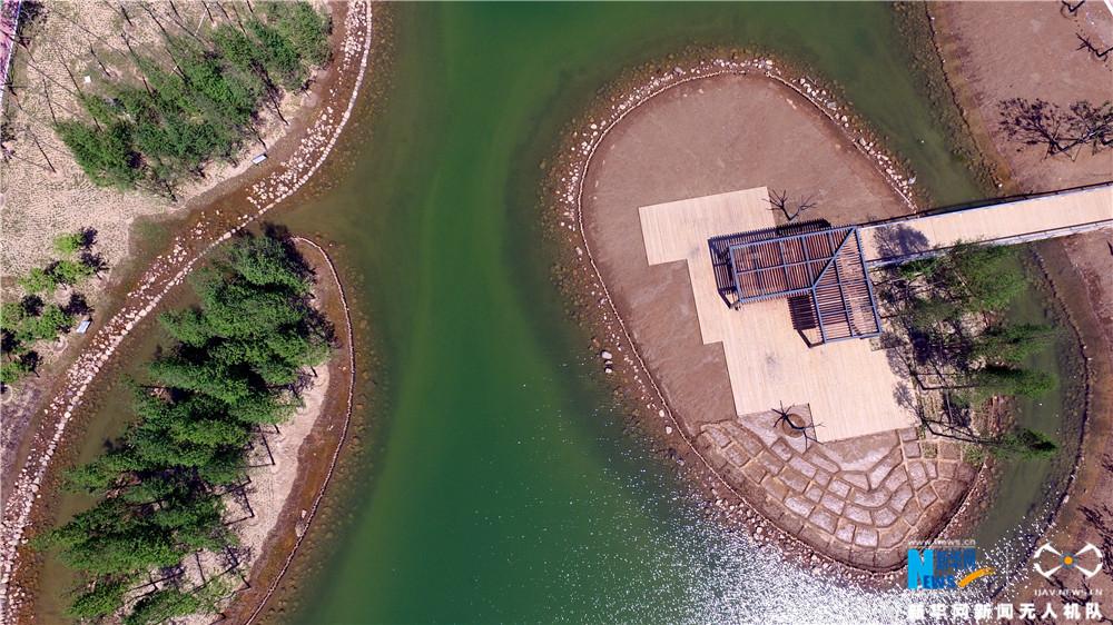 【航拍】河南许昌:蓄水后的城市中轴线美景