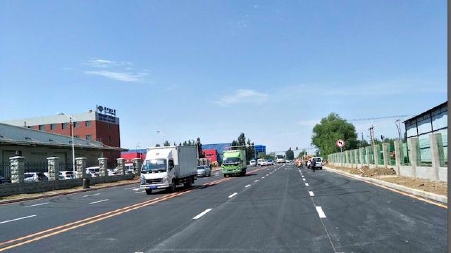 沈阳经济技术开发区八号街道路25日全线贯通