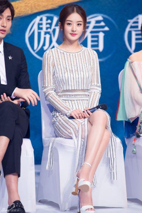 赵丽颖美腿白细图片