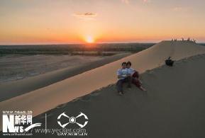 yecker作品集:飞手情侣与沙漠落日