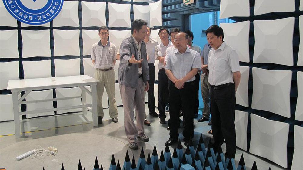 浙江省科技厅厅长周国辉考察质监下沙检测实验室基地