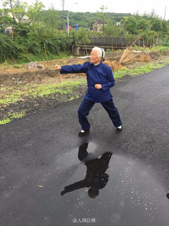 浙江94岁功夫奶奶 4岁起习武曾单挑恶霸