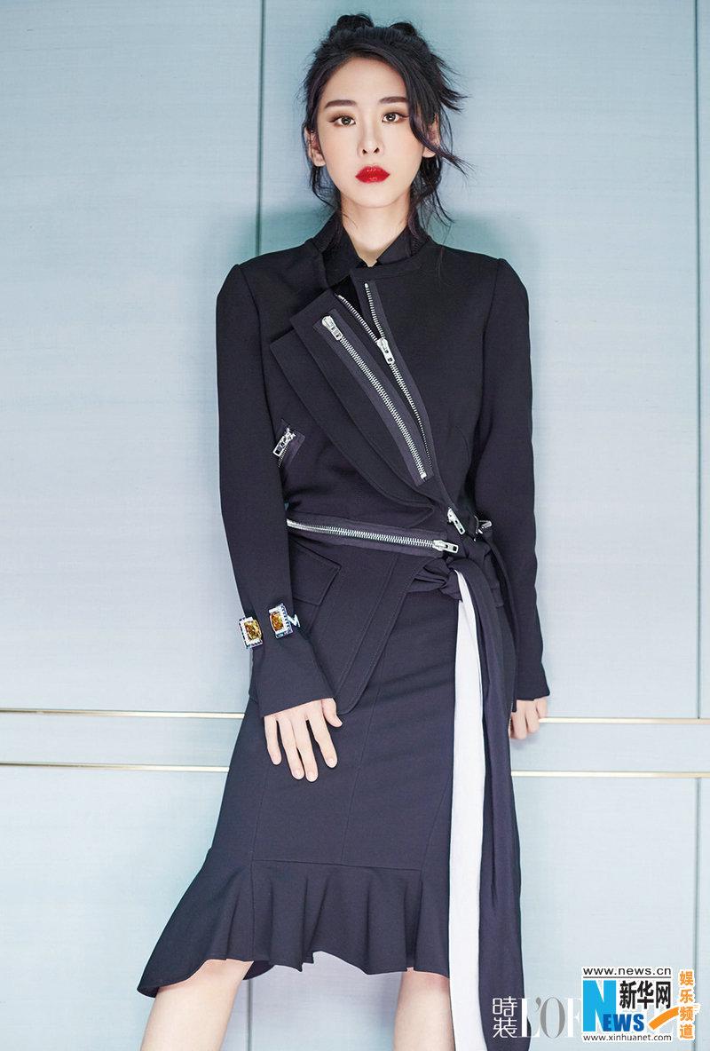 张碧晨杂志大片曝光 彰显时尚御姐犯儿