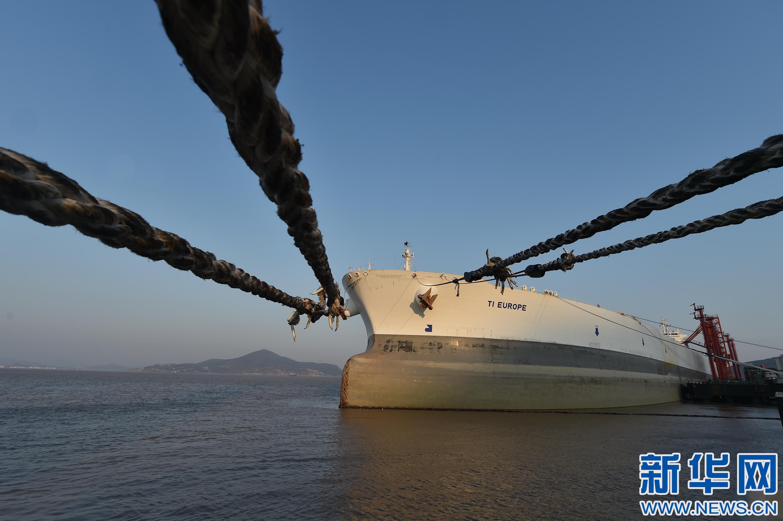 全球最大船停泊宁波舟山港