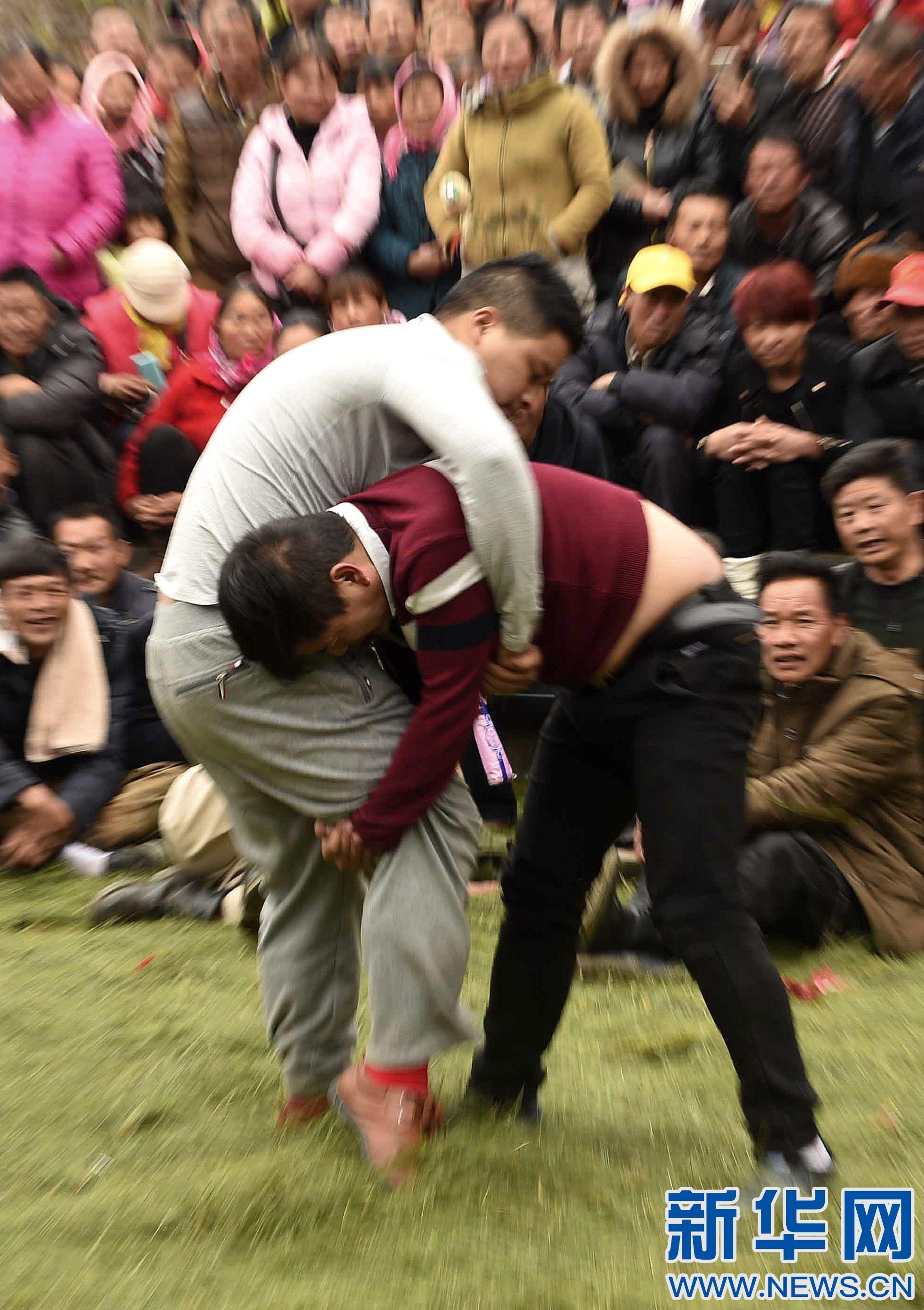 全民健身——乡村摔跤节