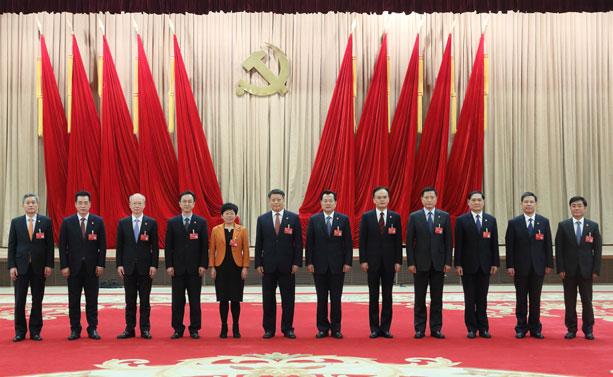 新一届宁波市委领导班子集体亮相