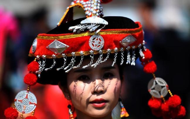 彝族虎文化故乡云南双柏举行祭虎大典