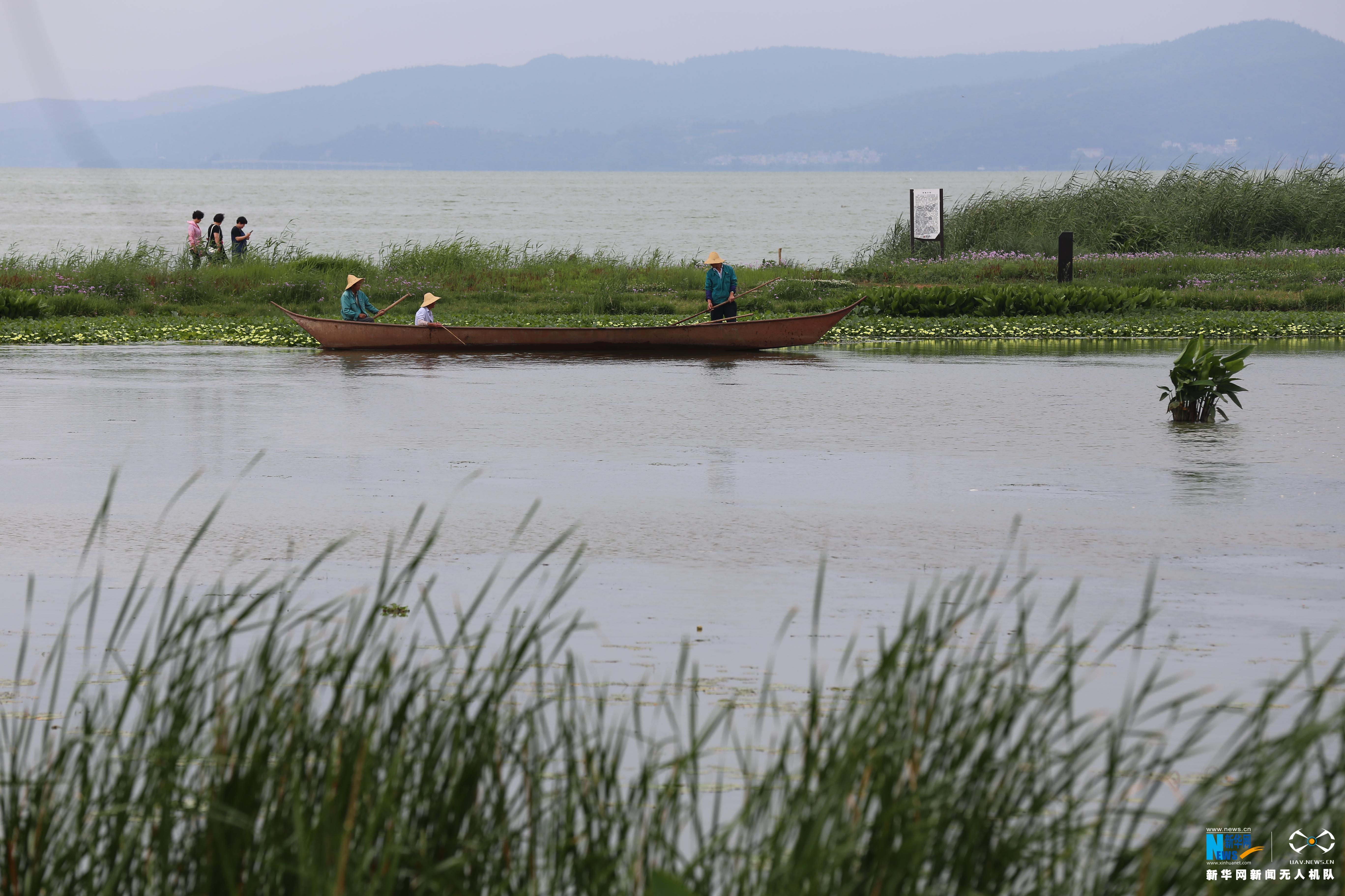 航拍:昆明滇池迎来31年最好水质