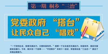 """桐乡""""三治"""":政府""""搭台"""" 让民众""""唱戏"""""""