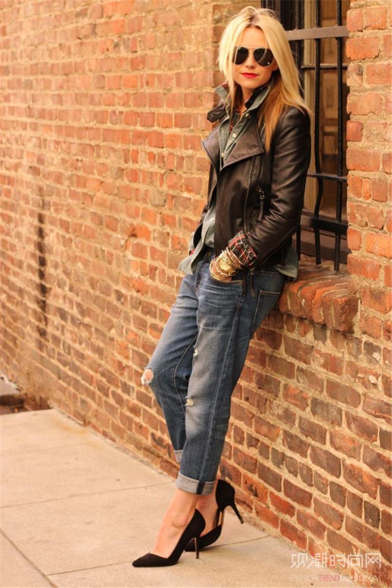 酷girl必不可少的春季皮衣,帅出新高度