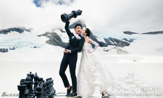 霍建华林心如巴厘岛拍摄婚纱照