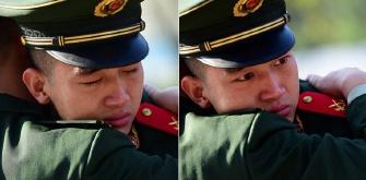老兵哭成泪人 原来是因为……