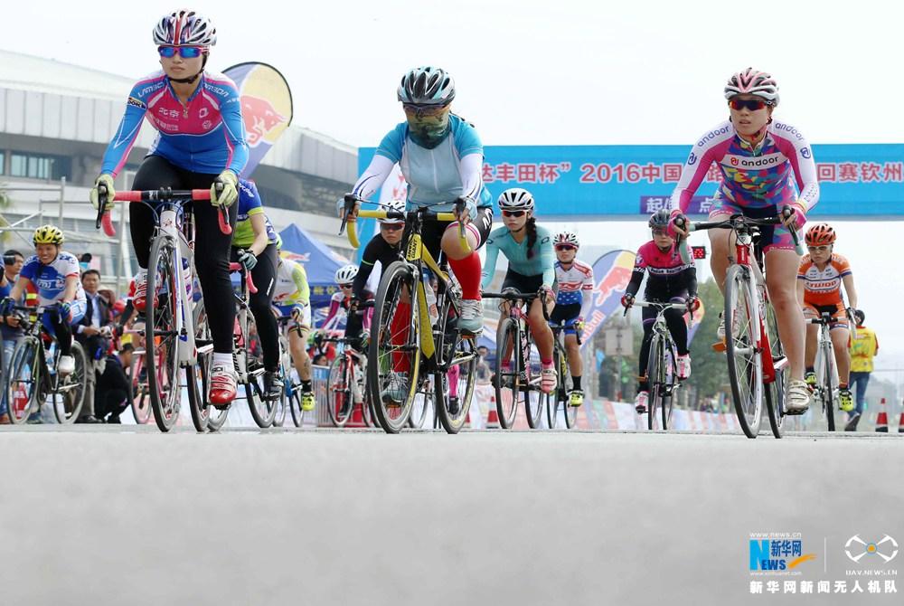 律动中国丨航拍2016中国公路自行车巡回赛钦州站