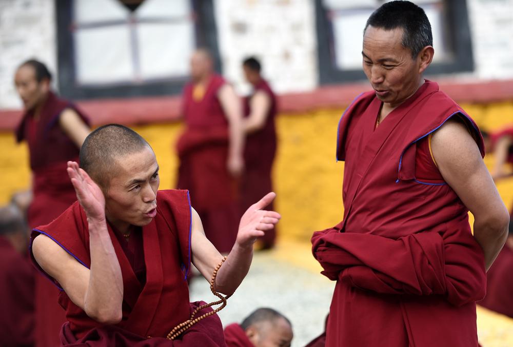 拉萨:江寺举行冬季大法会