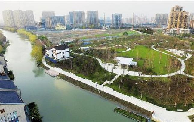 杭州運河中央公園展新姿