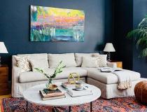 抽象灵感海军蓝波士顿一居室公寓