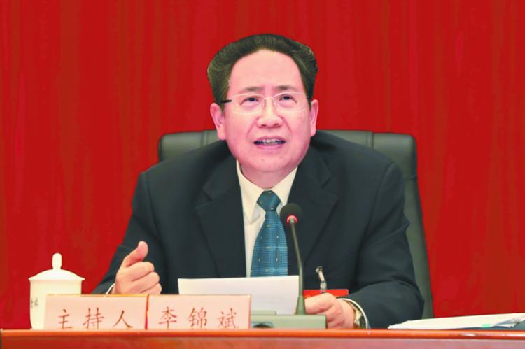 李锦斌审议《政府工作报告》:树牢四个意识 推动五大发展