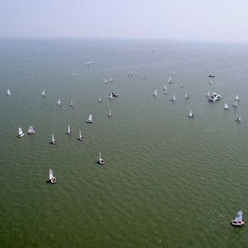 航拍2017中国青年帆船帆板精英赛