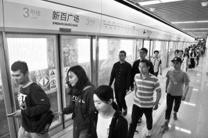 石家庄地铁新百广场站举行大客流演练