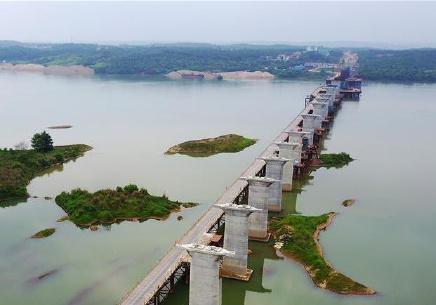 蒙华铁路赣江特大桥线下工程基本完工