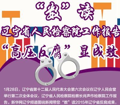 """""""数""""读辽宁省人民检察院工作报告"""