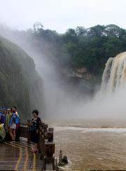 贵州黄果树大瀑布进入十年来最早丰水期