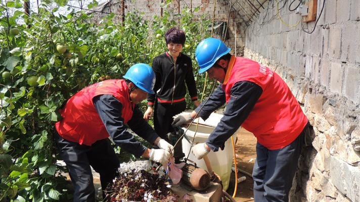 鞍山公司:电力活水润农家