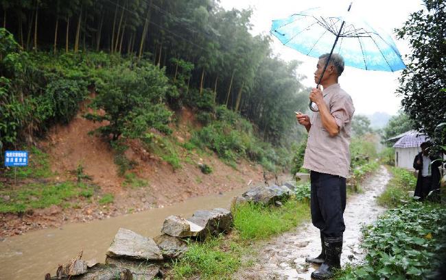 安徽省宿松县受地灾威胁群众积极投身地灾防治