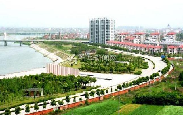 """金东区生态护堤打造""""绿色长廊"""""""