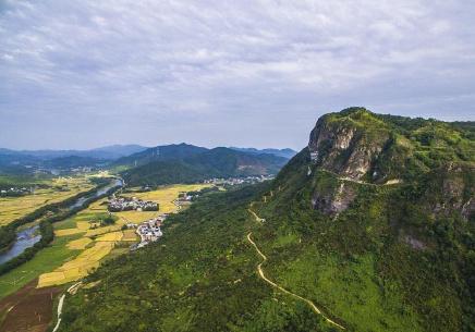 航拍江西岑山国家森林公园 感受城市的天然氧吧