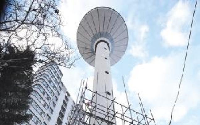 40米高白马水塔开拆 需耗时一个月