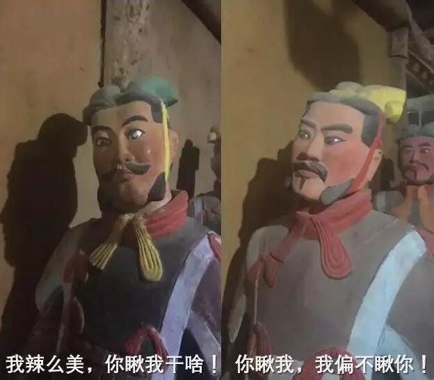 眼睛 陕西/世界八大奇迹馆展品:兵马俑