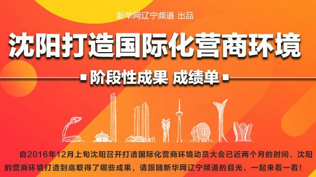 【图说】沈阳打造国际化营商环境 阶段性成果成绩单