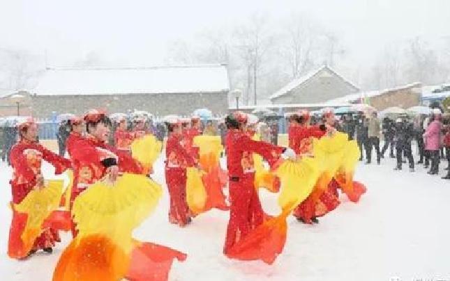 渑池千年古村有了全村福 村民自发组织表演队伍