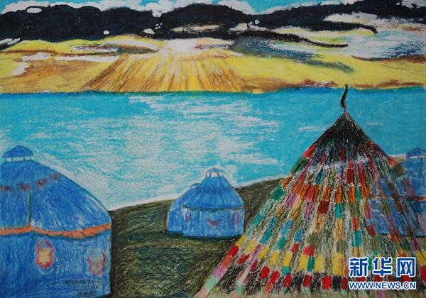小学生眼里的青海湖:春风十里,不如画中的你