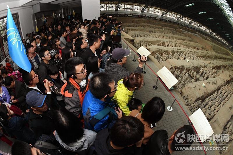 秦兵马俑博物院清明假期再创接待量历史新高