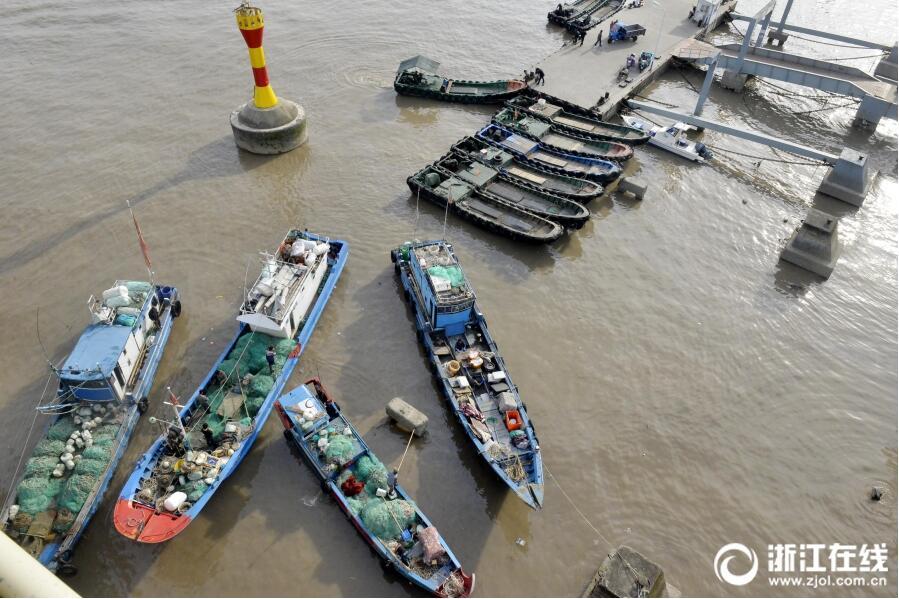 舟山:渔网上岸 迎禁渔期
