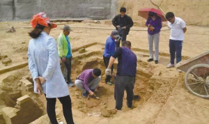 邱县:人防工程施工发现1700年前魏晋古墓