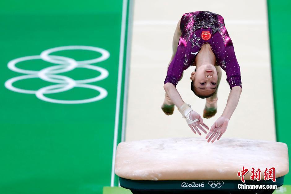 中国 毛艺/当地时间8月9日,在里约奥运会体操女子团体决赛中,中国女队以...