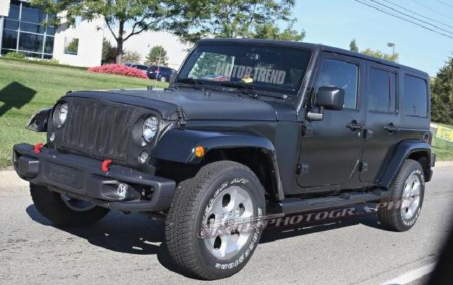 2017年发布 Jeep全新牧马人低伪装谍照