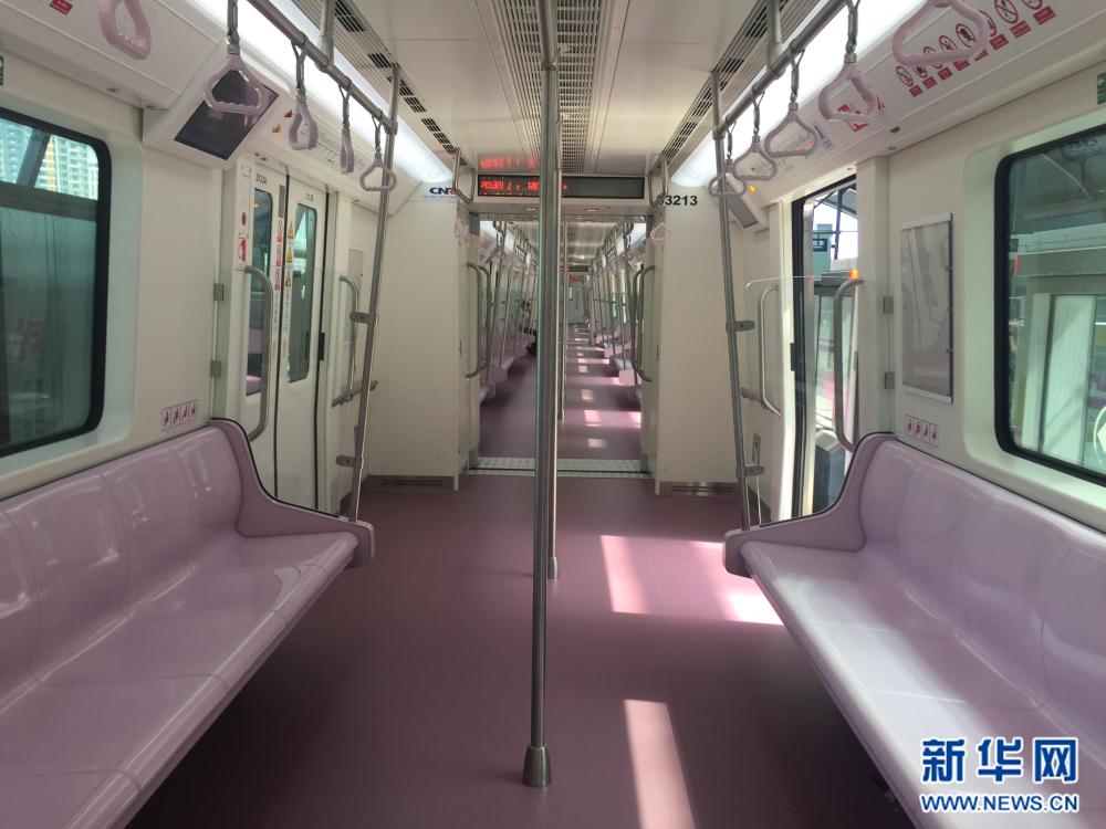 """西安地铁三号线试运行 实拍古都地铁""""粉嫩风""""(图)"""