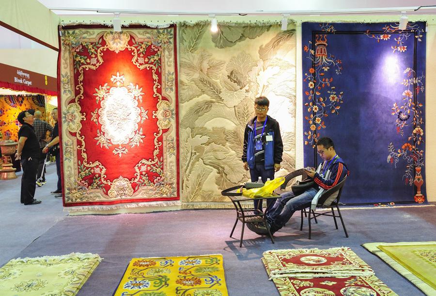 资料:往届藏博会风采之藏毯篇