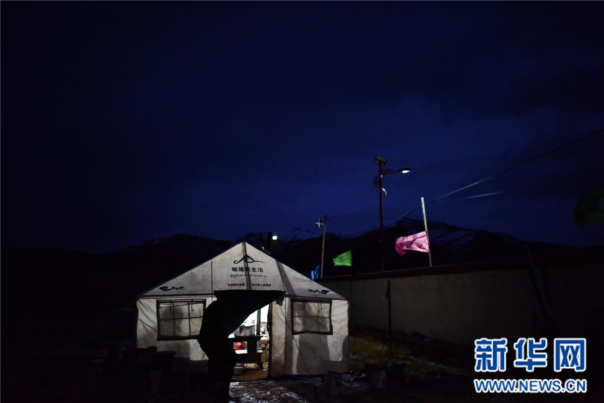 青海杂多地震受灾牧民得到安置