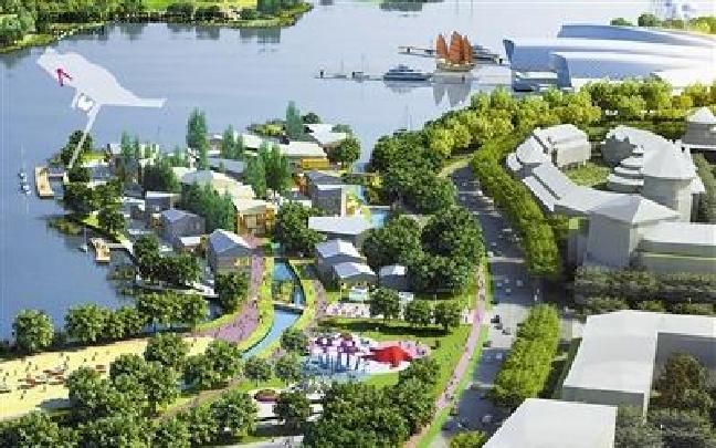 """生态城南湾开建景观区 新地标""""点亮""""渤海岸线"""