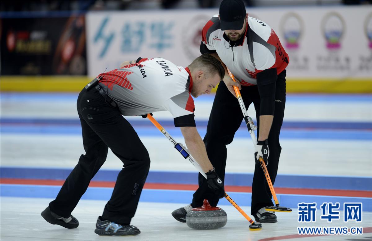 冰壶——国际邀请赛:中国负于加拿大