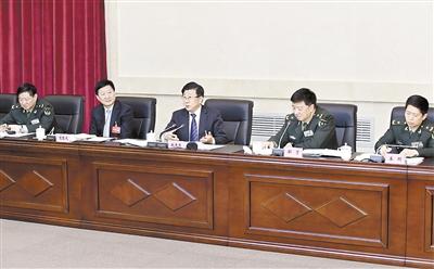 赵克志参加解放军代表团审议:共筑中国梦强军梦