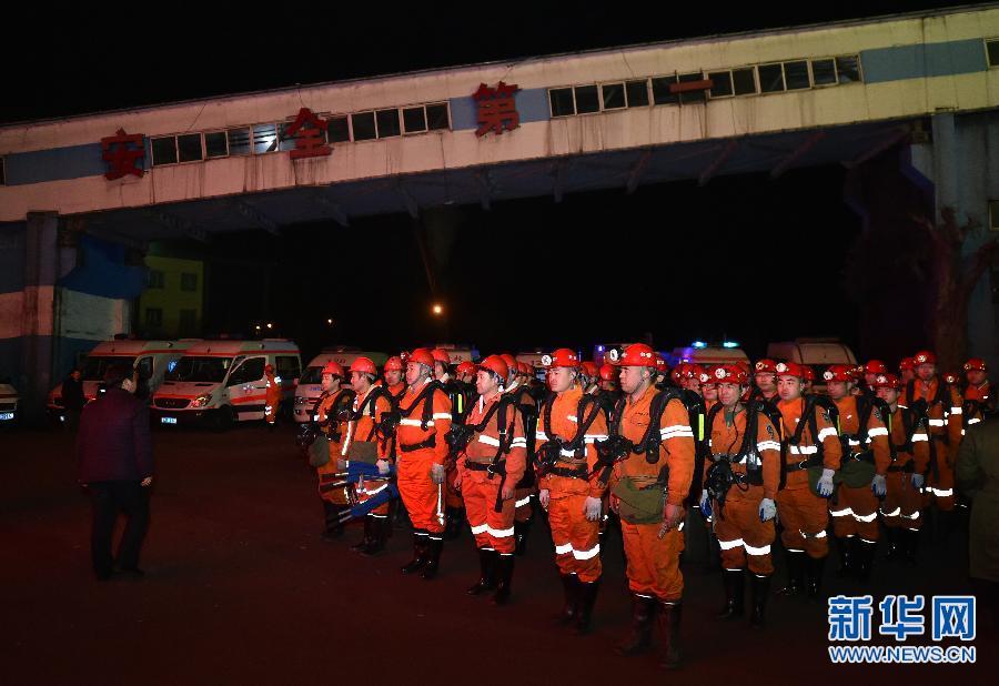 【现场直击】中煤担水沟煤业冒顶事故已经核实10人被困