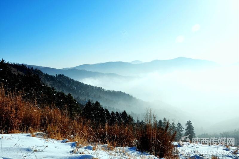 """拍客登山赏拍""""熊猫家园""""雪景"""